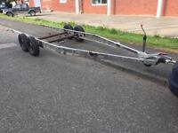 Caravan chassis, trailer chassis, twin wheel, Alko, galvanised