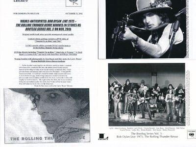 BOB DYLAN-Live 1975 The Rolling Thunder Revue Columbia Press Kit-2-8
