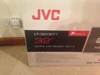 """JVC 32"""" WHITETV BRAND NEW IN BOX NEVER OPEN"""