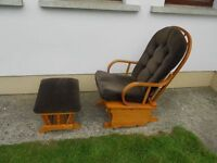 A Rocking Chair + Rocking Footstool