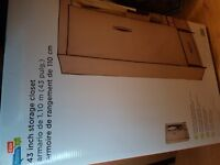Canvas wardrobe with metal frame