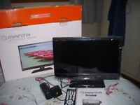 Matsui 12volt/240volt TV/DVD [combi] Small for motorhome [15.6 inches] As new.
