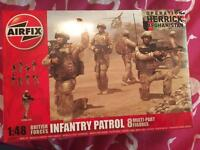 A03701 Airfix British Forces Infantry Patrol 1:48 Scale Plastic Model Kit New