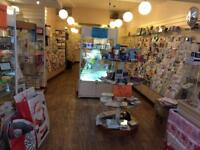 76ft of Hallmark Greeting Card shop Units, fixtures, fittings, glass display cabinets, +stock