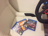 Playseat as new + 3 games
