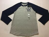 BRAND NEW Ralph Lauren 2016 Kids Boys Age 8-9 USA 1967 Polo Long Sleeve Tshirt Top 100sales
