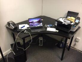 Black Corner Desk (RRP £175)