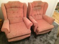 Two Parker Knoll style Wingback Arm Chairs - FREE (Collection only)