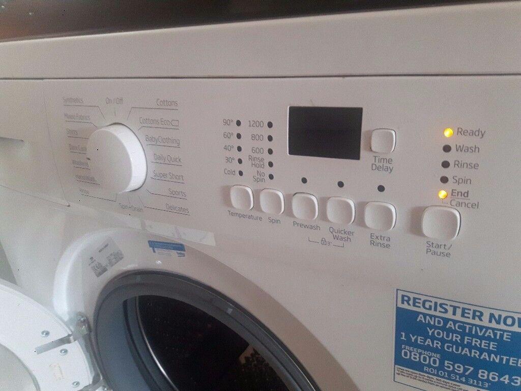 **Fairly new washing machine needs a new home**
