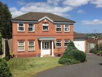 Beautiful 4 bed detached home in Alfreton. Jacuzzi-bath, conservatory, garage, drive, deck & 3 gdns.