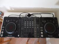 Pioneer CDJ 1000 MK3 (Pair) + Pioneer DJM700 Mixer + Sennheiser HD 205 Headphones