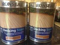 Decking stain. £20 price for one . golden cedar