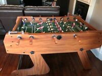 "Table football 4ft 6"" BCE - folds in upright position"