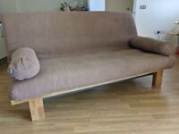 Futon - 3 Seater Sofa Bed Excellent condition, 3 covers/2 side cushions