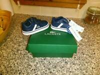 Lacoste Trainers(toddler size 3)