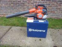 Husqvarna 525bx professional leaf blower 1 month old like new cost £250