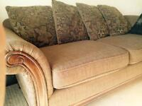 Set of 2 beautiful sofas good cond, oak accents paid $1,500