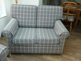 Two Beautiful Bespoke Two Seater Settees by Peter Silk of Helmsley - Excellent Condition