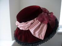 Handmade Edwardian style ladies hat re-enactment / fancy dress £10