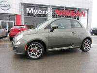 2012 Fiat 500 Hatchback, 5 Speed Manual, Bluetooth, Cruise Contr