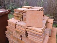 Terracotta Floor Files - 220 x 220 x 23 mm - Mellow Orange - Hand Made