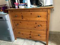 Wood chest of drawers table