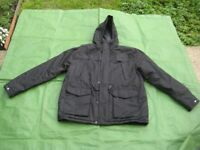 Black Cedarwood M&S Heavy Duty Large Anorak with Hood and Quilted Lining
