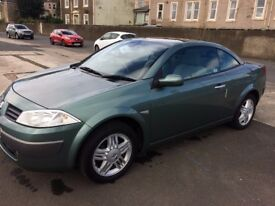 54 renault megane privilege vvt.115-2 door convertible.low mileage 42000 miles.