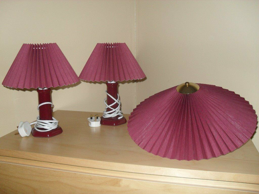 Bedside Lamps With Matching Uplighter In Rushden Northamptonshire Gumtree