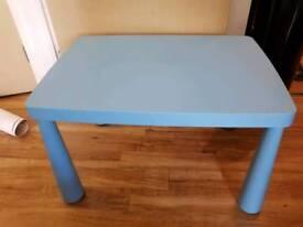 Kids Ikea Blue Mammut Table