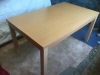 """Dining Table Wood Effect 59"""" x 35"""""""
