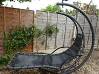 Black hanging chaise chair