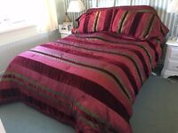 King 'Bed in a Bag', Red, 2 Shams, 4 pillow cases, valance, sheets, curtains