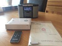 PURE Chronos iDock DAB clock radio with iPod dock