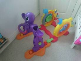 Stand and play little tikes toy