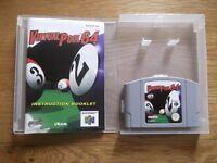 Virtual Pool 64 - Nintendo 64 pool game with instructions & storage display box
