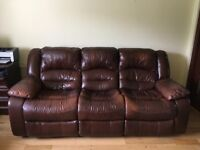 3 Seater Brown Sofa for sale