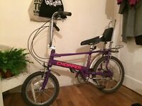 Purple Raleigh Chopper Bike
