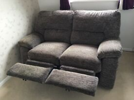 ELECTRIC RECLINING 2 SEATER SOFA - LIKE NEW!