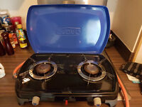 Cadac 2 burner combo cooker with full Patio Gas bottle and regulator