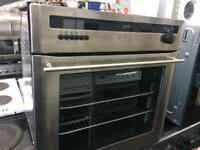 Stainless diplomat 60cm by 60cm integrated electric grill & oven good condition with guarantee