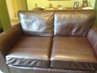 Marks &Spencer Leather settee and chair