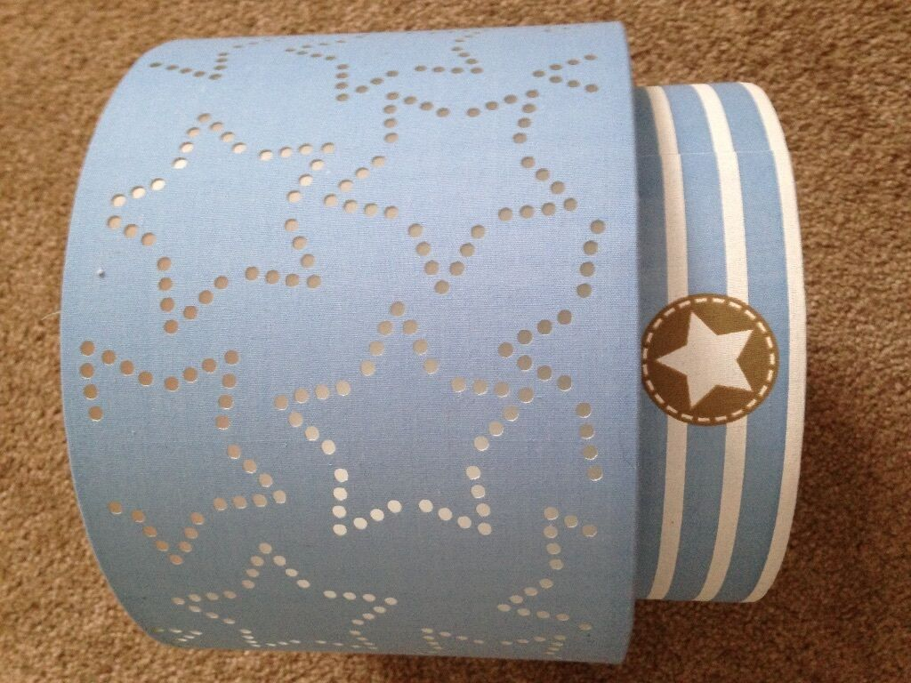 Next Boys Blue Stars Stripes 2 Tier Lampshade In Kemnay