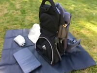 Vaude baby carrier with acsessories