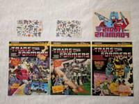 1984 UK Marvel Transformers comics + free gifts (High grade NM)