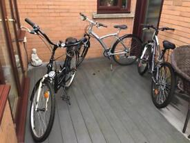 3x Adult bikes
