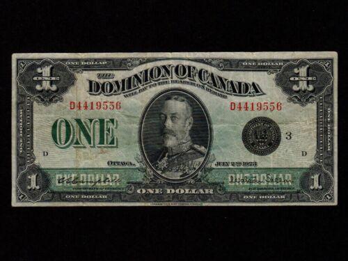 Canada:P-33i,1 Dollar,1923 * Campbell & Seller Sign * King George V * F *