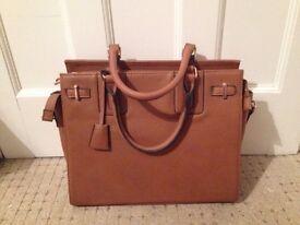 Brand New Miss Selfridge Faux Leather Handbag in Tan For Sale £15