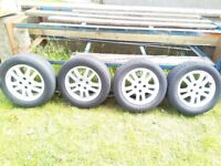Honda Civic alloys with tyres