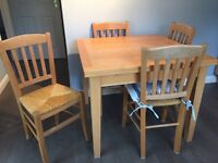 Habitat Extending Table and 4 Chairs